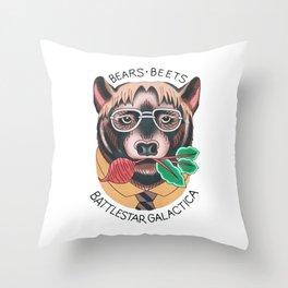 Bears beets Throw Pillow