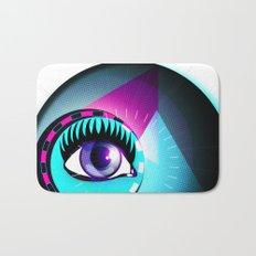 Halftone Eyeball Bath Mat