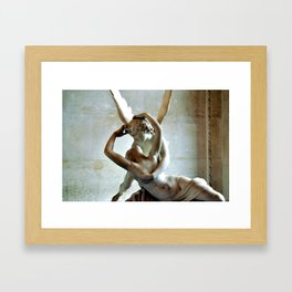 Psyche Revived by Cupids Kiss - Canova at the Louvre Framed Art Print