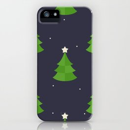 Green Christmas Tree Pattern iPhone Case
