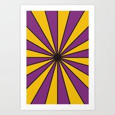 CVS0098 Purple and Poppy yellow rays Art Print