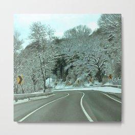 Cold Road Metal Print