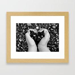 Heart in Hand Framed Art Print