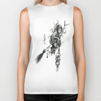 witch Biker Tanks featuring Witch by Elias Aquino