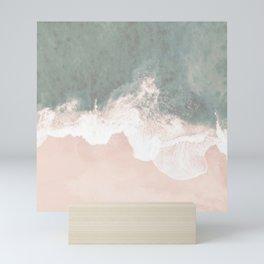 Beautiful Turquoise Lace Seashore And Ocean Mini Art Print