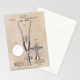 patent art Pratt 1887 Stethoscope Stationery Cards
