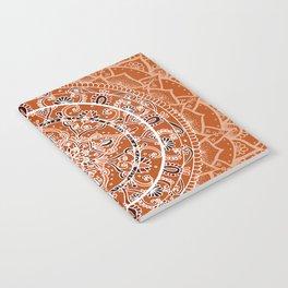 Detailed Burnt Orange Mandala Notebook