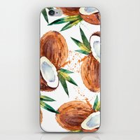 coconut wishes iPhone & iPod Skins featuring Coconut by Vale Bocchi