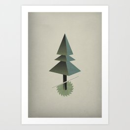 Triangle Tree Art Print