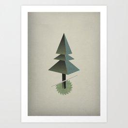 Triangle Tree Art Print