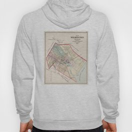 Vintage Map of Wilmington Delaware (1884) Hoody