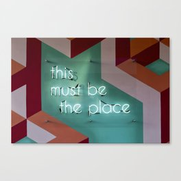 Right Here Canvas Print