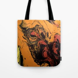 Dirty Acrylic Pour Painting 06, Fluid Art Reproduction Abstract Artwork Tote Bag