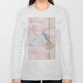 Geometric mix up - rose gold Long Sleeve T-shirt