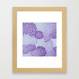 Ultra Violet Lavender Dahlias Framed Art Print