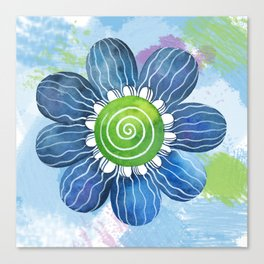 Blue Whimsy Canvas Print