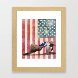 All American Gymnast Watercolor Framed Art Print