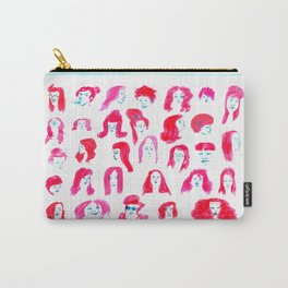 faces on hair Carry-All Pouch