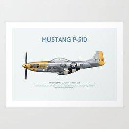 Mustang Heaven Sent Art Print