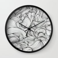 fabric Wall Clocks featuring Fabric by DuckyB