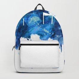 Allentown Pennsylvania Skyline Blue Backpack