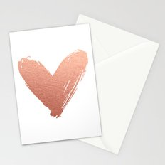 heart of rosegold Stationery Cards