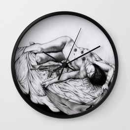 """""""2062: the castle of trapped Amazons"""" cover Wall Clock"""
