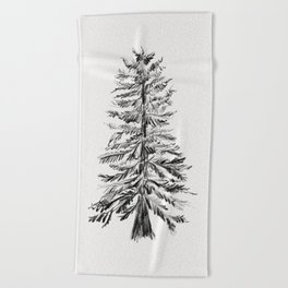 Cedar Tree Beach Towel