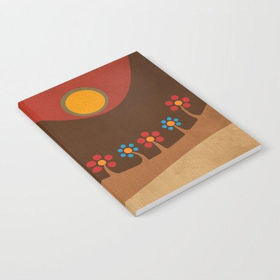 Circular landscape & flowers Notebook
