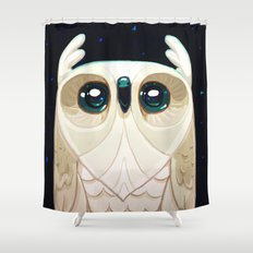 Starla the Owl Shower Curtain