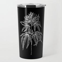 Reverse Cannabis Illustration Travel Mug