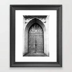Church Doors at Boys Town Framed Art Print