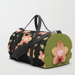 Magenta Peach Phalaenopsis Orchid Pattern Duffle Bag