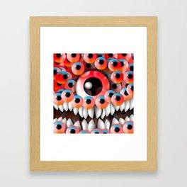 Eyeball Monster Framed Art Print