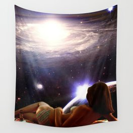 Spatial tanning Wall Tapestry