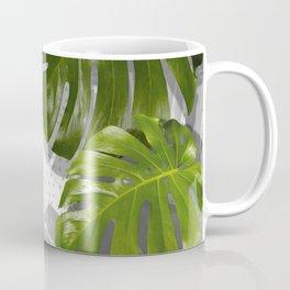 """Monstera plant on polka dots and white"" Coffee Mug"