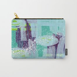 Teal Background Carry-All Pouch