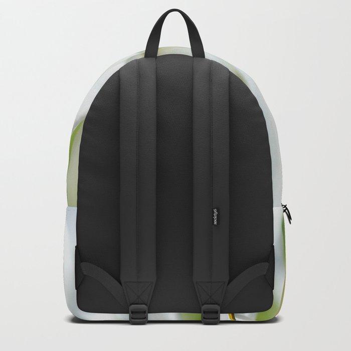 White flower macro 034 Backpack