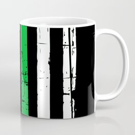 Thin Green Military Flag Coffee Mug