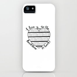 To the Bookstore and Back iPhone Case