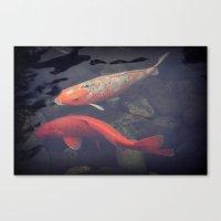 koi fish Canvas Prints featuring Koi Fish by KunstFabrik_StaticMovement Manu Jobst