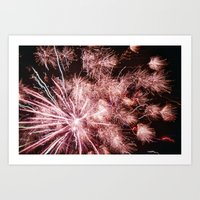 fireworks Art Prints featuring Fireworks by For the easily distracted...