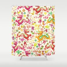 Scared dragons Shower Curtain