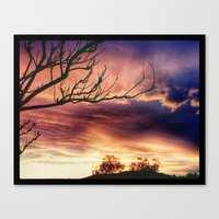 one tree hill Canvas Prints featuring one tree hill by KaliBear