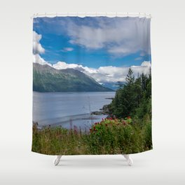 On The Road To Hope, Alaska Shower Curtain