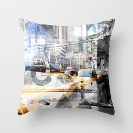 New York City | Geometric Mix No. 9 Throw Pillow