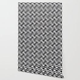 Geometric Pattern #193 (black gray circles) Wallpaper