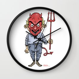 DEVIL BOY Wall Clock