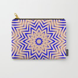 Psychedelic Pink and Blue Mandala Carry-All Pouch