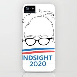 Bernie Sanders Head Hindsight Is 2020 iPhone Case